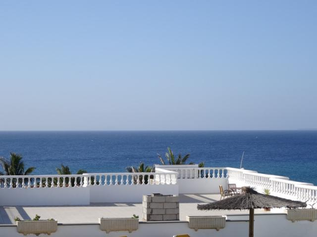 view from terrace - 3A Columbus Apartments, Puerto del Carmen, Lanzarote