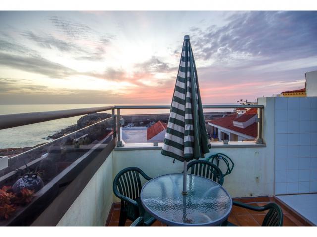 Sunset on the sun terrace - Ocean Vista Apartment, El Cotillo, Fuerteventura