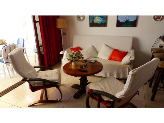 Living room with sofa bed  - Nice Seaview Apartment, Puerto del Carmen, Lanzarote