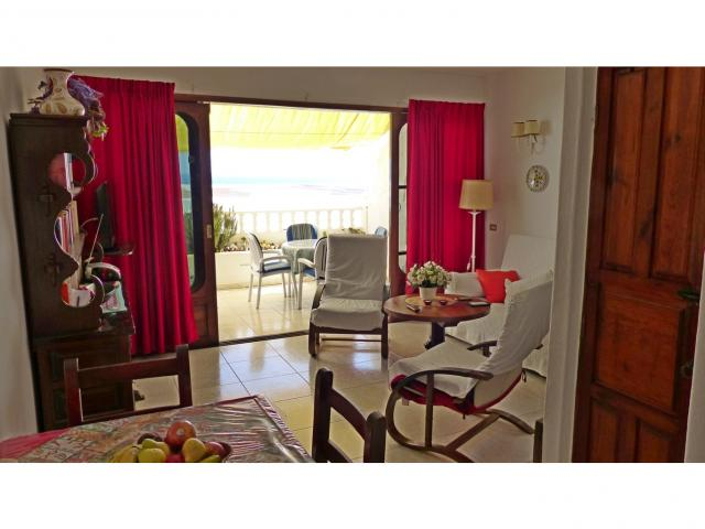 Living room on the terrace - Nice Seaview Apartment, Puerto del Carmen, Lanzarote