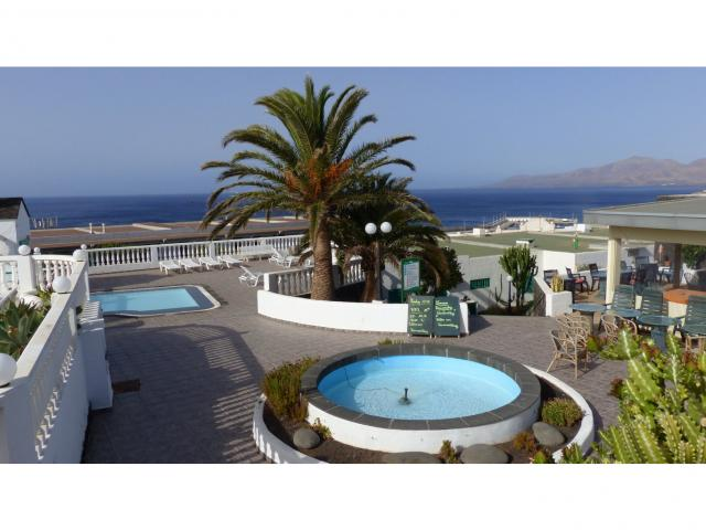 Fountain and swimming pool for the kids - Nice Seaview Apartment, Puerto del Carmen, Lanzarote