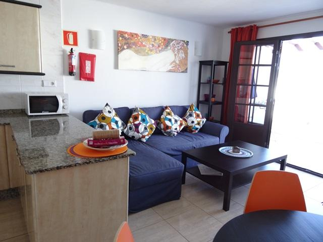Living area - 3A Columbus Apartments, Puerto del Carmen, Lanzarote