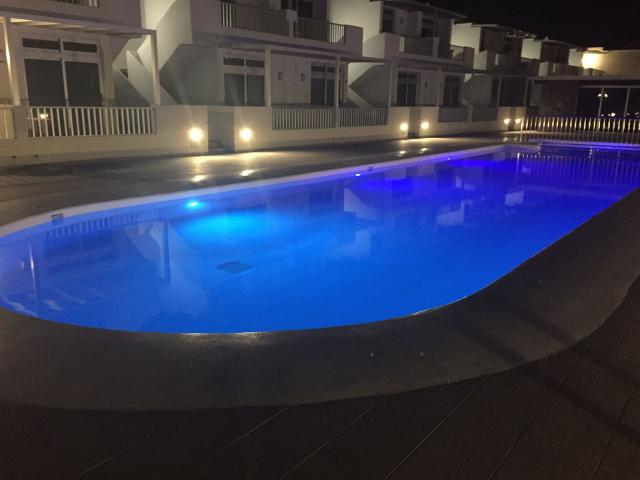 Stunning two bedroom apartment in central Puerto del Carmen, Lanzarote.  The complex and apartment are recently refurbished to a high standard.  There is a heated swimming pool and pool bar on site.