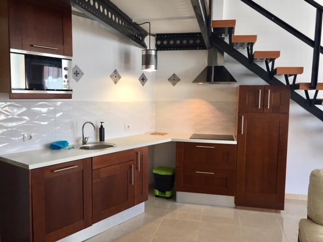 the kitchen corner open space - Comfy loft out of tourist, Golf del Sur, Tenerife