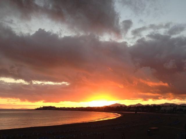 Sunset from the beach - Calle Burgao, Puerto del Carmen, Lanzarote