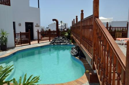 Casa Lila, a modern style holiday villa in the tranquil coastal village of Punta Mujeres Lanzarote. Perfect self catering accomodation for families.