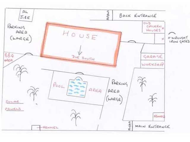 Sketch Plan of the Villa and surrounding area